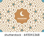 ramadan mubarak beautiful... | Shutterstock .eps vector #645041368