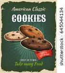 retro fast food cookies poster  ... | Shutterstock .eps vector #645044134