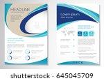 template vector design for... | Shutterstock .eps vector #645045709