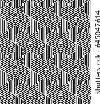 vector seamless pattern. modern ... | Shutterstock .eps vector #645047614