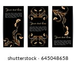 set of vertical banners with... | Shutterstock .eps vector #645048658