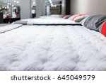 closeup of many mattresses on... | Shutterstock . vector #645049579