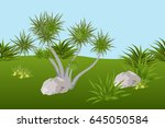 summer landscape background... | Shutterstock .eps vector #645050584