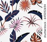 seamless flat vector... | Shutterstock .eps vector #645052654