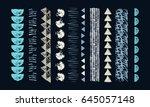 set of ethnic art brushes in... | Shutterstock .eps vector #645057148