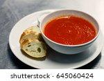 tomato soup | Shutterstock . vector #645060424