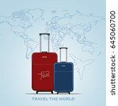 travel the world poster design... | Shutterstock . vector #645060700