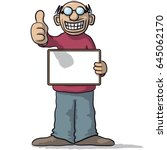 man with a signboard | Shutterstock .eps vector #645062170