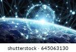 global network and datas... | Shutterstock . vector #645063130