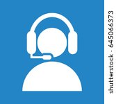 man with headphones icon on... | Shutterstock .eps vector #645066373