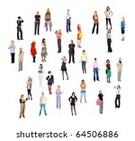 people crowd concept   Shutterstock . vector #64506886