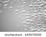 soap bubbles background with... | Shutterstock .eps vector #645070030