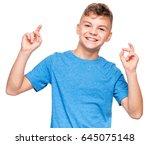 half length emotional portrait... | Shutterstock . vector #645075148