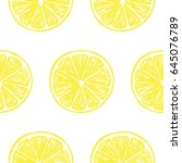 seamless pattern with fresh... | Shutterstock .eps vector #645076789