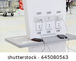 free battery charging station... | Shutterstock . vector #645080563