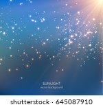 golden magic dust particles... | Shutterstock .eps vector #645087910