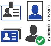 user badge flat vector... | Shutterstock .eps vector #645093544