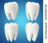 set teeth  concept dental care... | Shutterstock . vector #645098734