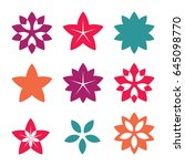 flower icon. a collection of... | Shutterstock .eps vector #645098770
