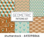abstract geometric hipster...   Shutterstock .eps vector #645098866
