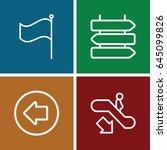direction icons set. set of 4...