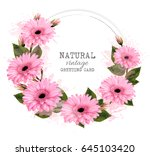 nature vintage greeting card... | Shutterstock .eps vector #645103420