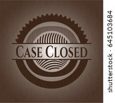 case closed badge with wood... | Shutterstock .eps vector #645103684