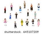 collection children | Shutterstock . vector #645107209