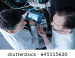 top view of professional... | Shutterstock . vector #645115630