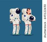 cool vector flat character... | Shutterstock .eps vector #645122650