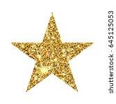 gold glitter vector star.... | Shutterstock .eps vector #645125053