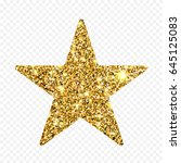 gold glitter vector star.... | Shutterstock .eps vector #645125083