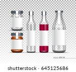 glass jar  bottle. realistic... | Shutterstock .eps vector #645125686
