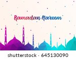 mosque made by colourful... | Shutterstock .eps vector #645130090