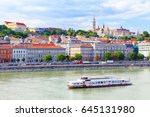 hungary. budapest. view on buda.... | Shutterstock . vector #645131980