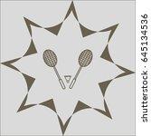 badminton icon   Shutterstock .eps vector #645134536