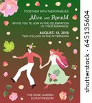 wedding invitation with fairy... | Shutterstock .eps vector #645135604