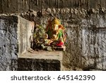 small colorful old statue of... | Shutterstock . vector #645142390