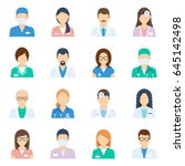 doctor avatar male and female... | Shutterstock .eps vector #645142498