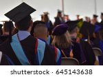 graduate students in mortar... | Shutterstock . vector #645143638