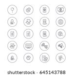 set of data analysis icons.... | Shutterstock .eps vector #645143788