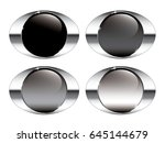 set of oval backgrounds with a... | Shutterstock .eps vector #645144679