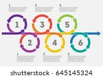 scheme of the results in... | Shutterstock .eps vector #645145324