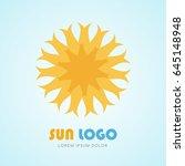 sun icon logo sign  vector...