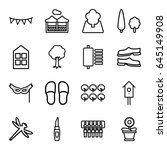 decorative icons set. set of 16 ... | Shutterstock .eps vector #645149908