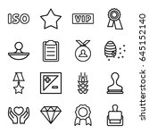 quality icons set. set of 16... | Shutterstock .eps vector #645152140