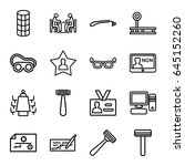 personal icons set. set of 16... | Shutterstock .eps vector #645152260