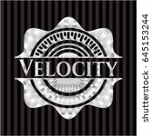 velocity silvery emblem or badge | Shutterstock .eps vector #645153244