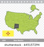 usa new mexico  state map and...   Shutterstock .eps vector #645157294
