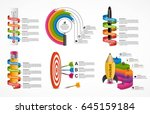 collection infographics. design ... | Shutterstock .eps vector #645159184